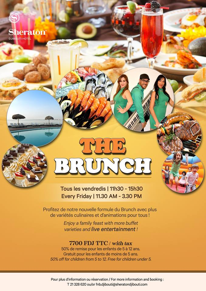 Sheraton Djibouti Hotel Friday Brunch.