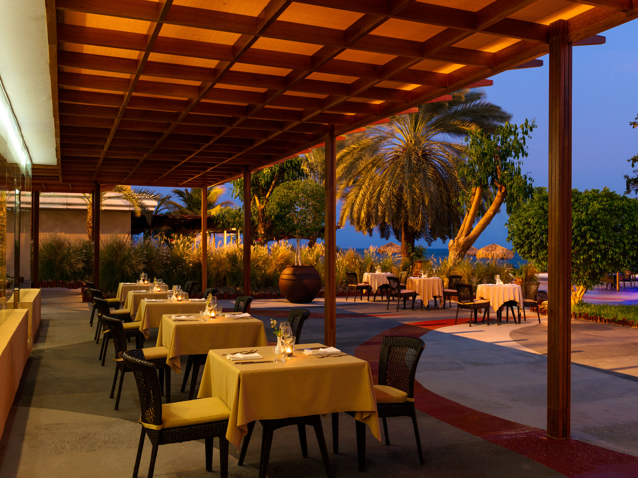 Sheraton Djibouti Hotel Dining situated on the Terrace.