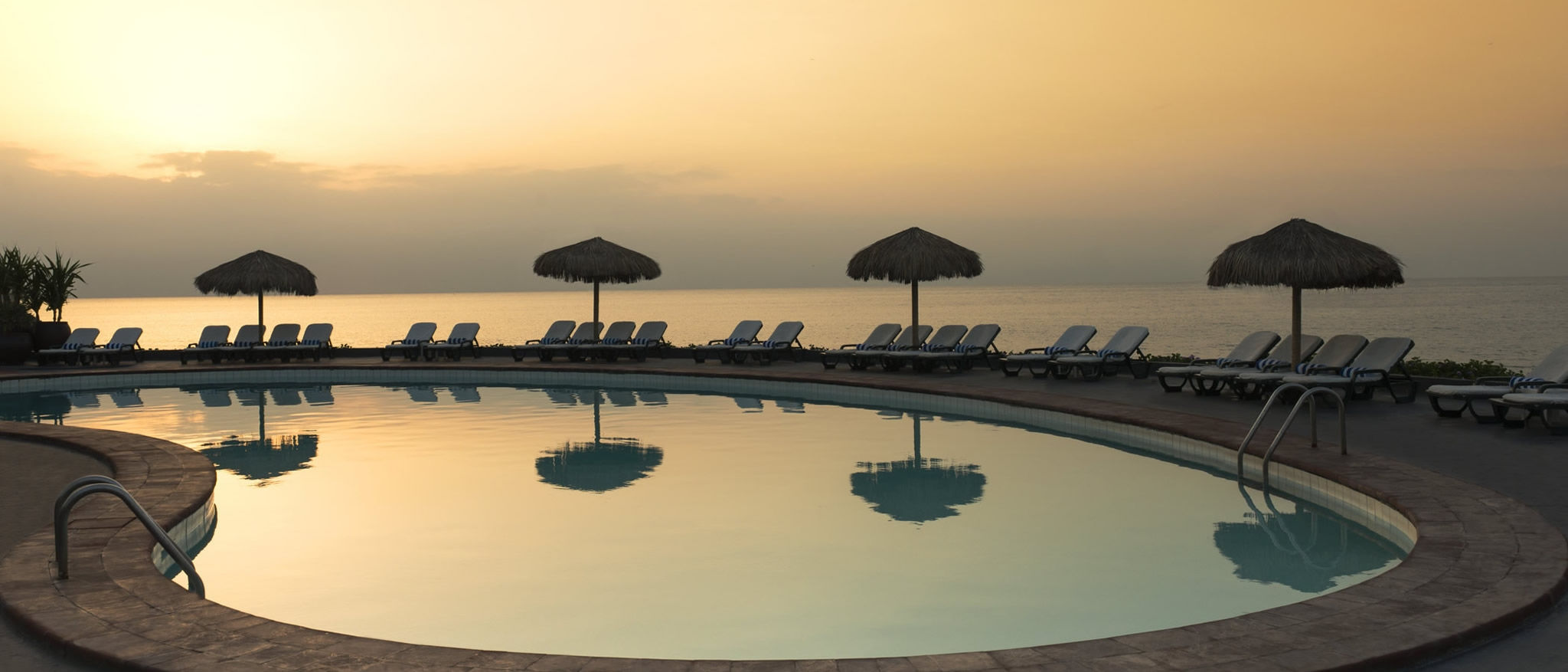 Sheraton Djibouti Hotel sunset Pool View.